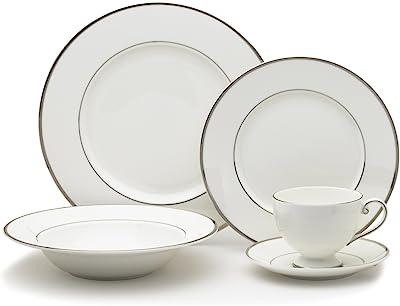 Mikasa Cameo Platinum 40-Piece Dinnerware Set, Service for 8