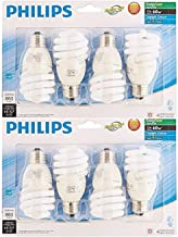 Philips 823031 CFL Light Bulb 13W T2 Twister Daylight 6500K 60 Watt Equivalent; 8-Pack