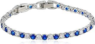 SWAROVSKI Tennis Deluxe Sapphire Bracelet Ceramic Sapphire Dark Blue One Size