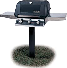 MHP Tri-burn W3g4dd Natural Gas Grill With Searmagic Grids On In-ground Post