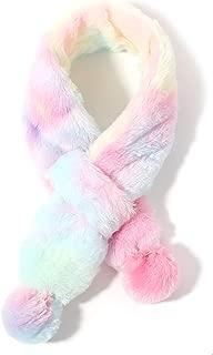 accsa Kids Girl Cold Weather Fur Scarf Christmas Neck Wraps Age 3-5YRS