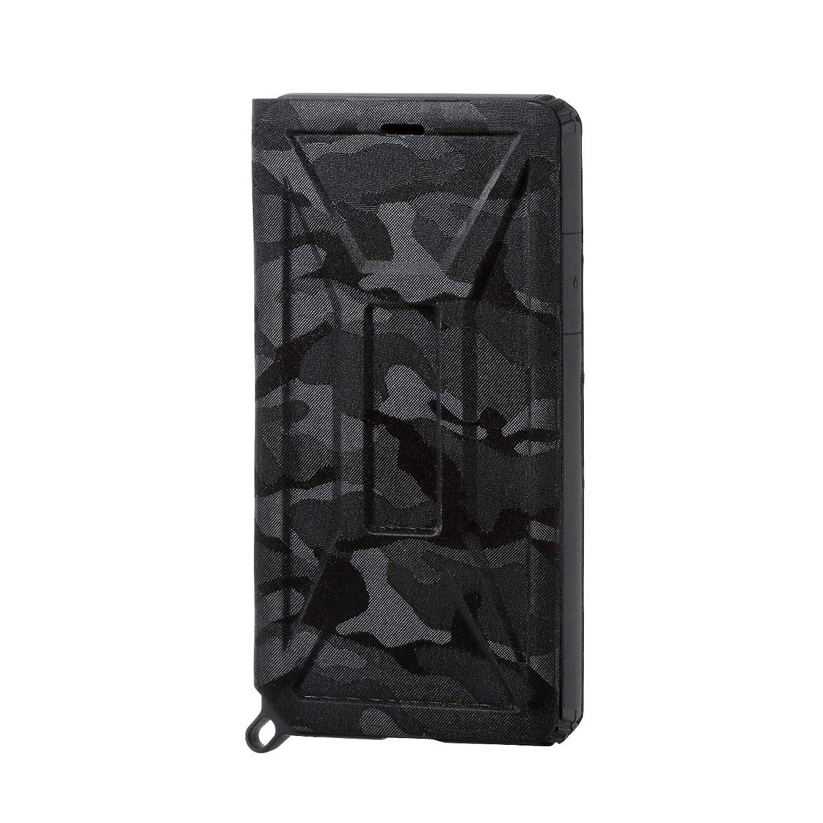 マイコン置くためにパックうがいエレコム iPhone XR ケース 衝撃吸収 ZEROSHOCK フラップタイプ TPU素材採用 【落下時の衝撃から本体を守る】 カモフラ(ブラック) PM-A18CZEROFT1