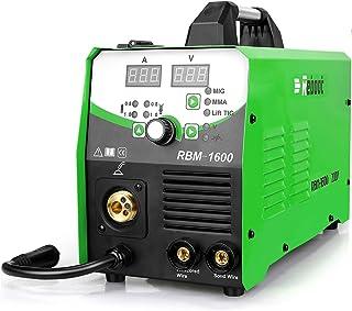 Reboot MIG Welder Gas/Gasless,MIG160 4 in 1 Flux Core/Solid Welding 220V,Digital Multiprocess Inverter MIG/Stick/TIG Welde...