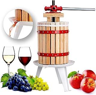 Fruit and Wine Press 4.75 Gallon Cider Apple Grape Crusher Juice Maker Tool Wood