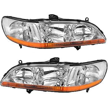 Amazon Com 1998 2000 1999 98 99 00 Honda Accord Headlight One Pair Both Driver And Passenger Sides Dot Certified Headlamp Automotive