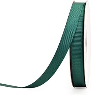 YAMA 1/2 inch Solid Grosgrain Ribbon Roll - 25 Yards for Gift Wrapping Ribbons, Teal