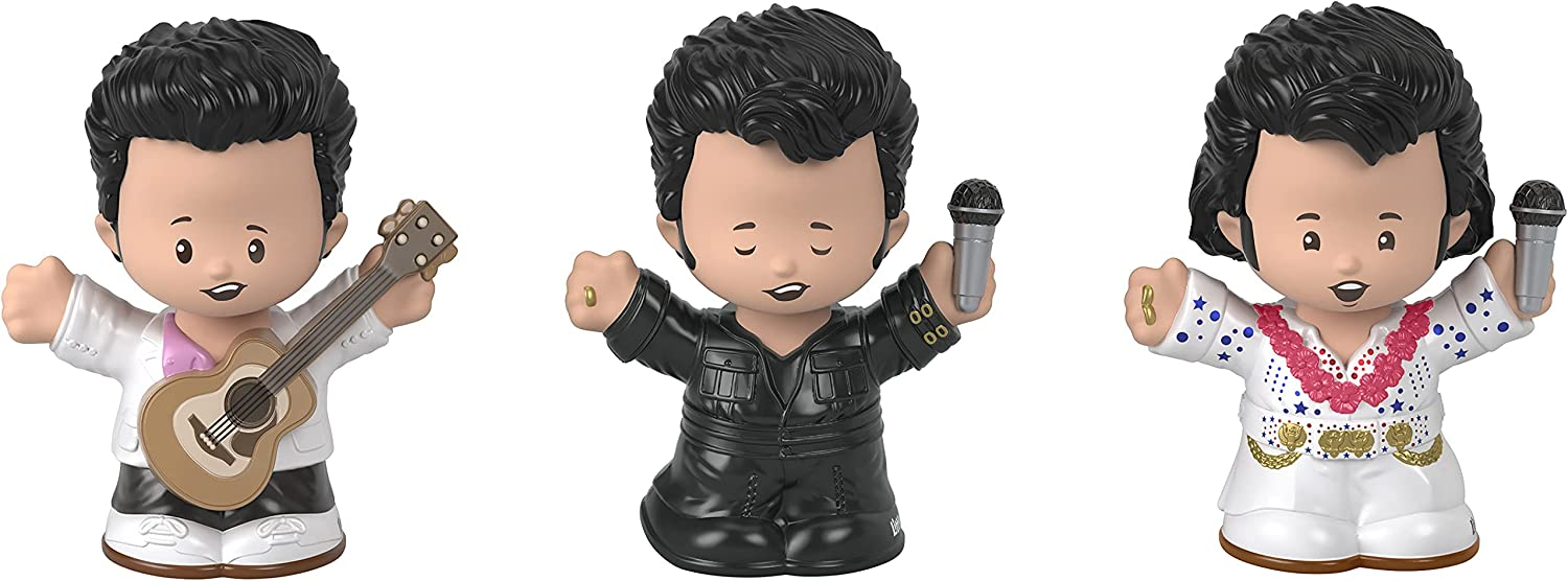 Fisher-Price Little People Collector Elvis Presley, Gift Set of 3 Character Figures Styled Like The Iconic Singer