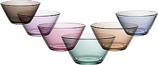 Coral Vega Mini Prep Bowl, Colored Stackable Glass Mixing Bowls, Set of 6, 11 OZ