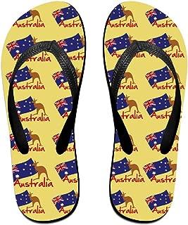 Kangaroo Hand In Australian Flag Women's Men's Lightweight Flip Flops Beach Slippers Shower Sandal