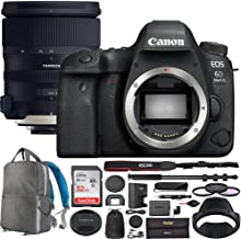 Canon EOS 6D Mark II Digital SLR Camera Body with Tamron SP 24-70mm f/2.8 Di VC USD G2 Lens AFA032C-700 with 82mm Deluxe Filter Kit and Deco Gear Photography Backpack Pro Bundle