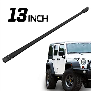 Rydonair Antenna Compatible with Jeep Wrangler JK JKU JL JLU Rubicon Sahara (2007-2020) | 13 inches Flexible Rubber Antenna Replacement | Designed for Optimized FM/AM Reception