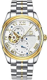 Men's Automatic Mechanical Watch Retro Roman Applique Analog Luminous Stainless Stell Band