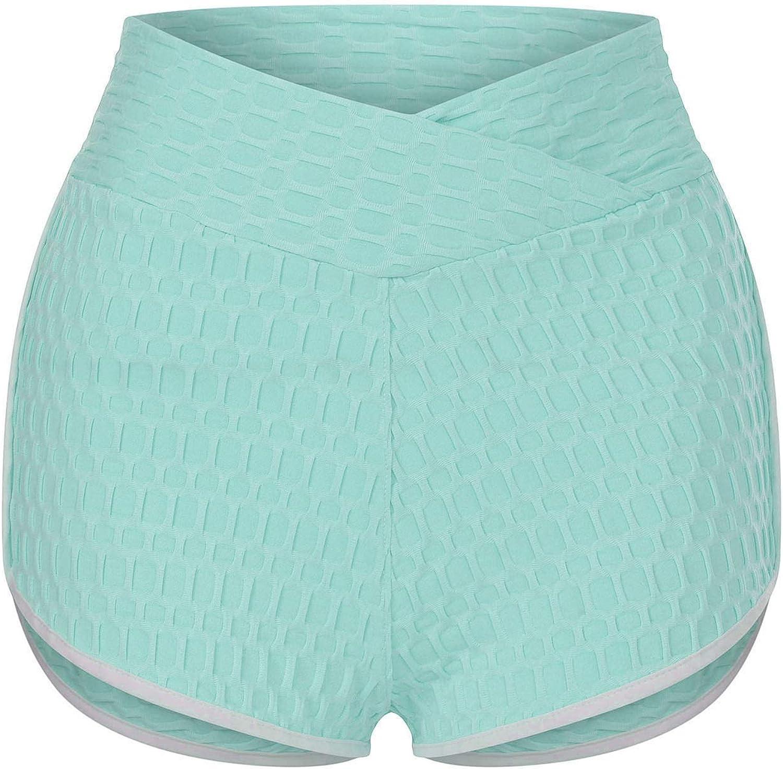 Zainafacai 2 Pc TIKTok Leggings, Womens High Waist Yoga Shorts Athletic Workout Shorts Running Leggings Pants Biker Shorts