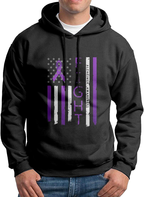 Alzheimers Awareness Flag Big Logo Men'S Slim Sweatshirts Hoodie Regular dealer Cheap mail order shopping