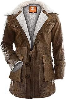 Brown Bane Coat, Sherpa, Original Snuff Leather, Tom Put Hard Work in Designing