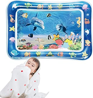 "Babigo Tummy time Water Play mat - 27""x20"" The Perfect Fun time Play Inflatable Water mat for Baby and Toddlers - Activity..."