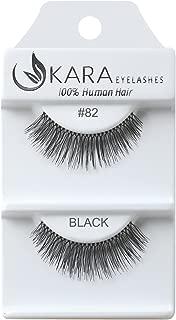 Kara Beauty Human Hair Eyelashes - 82 (Pack of 12)