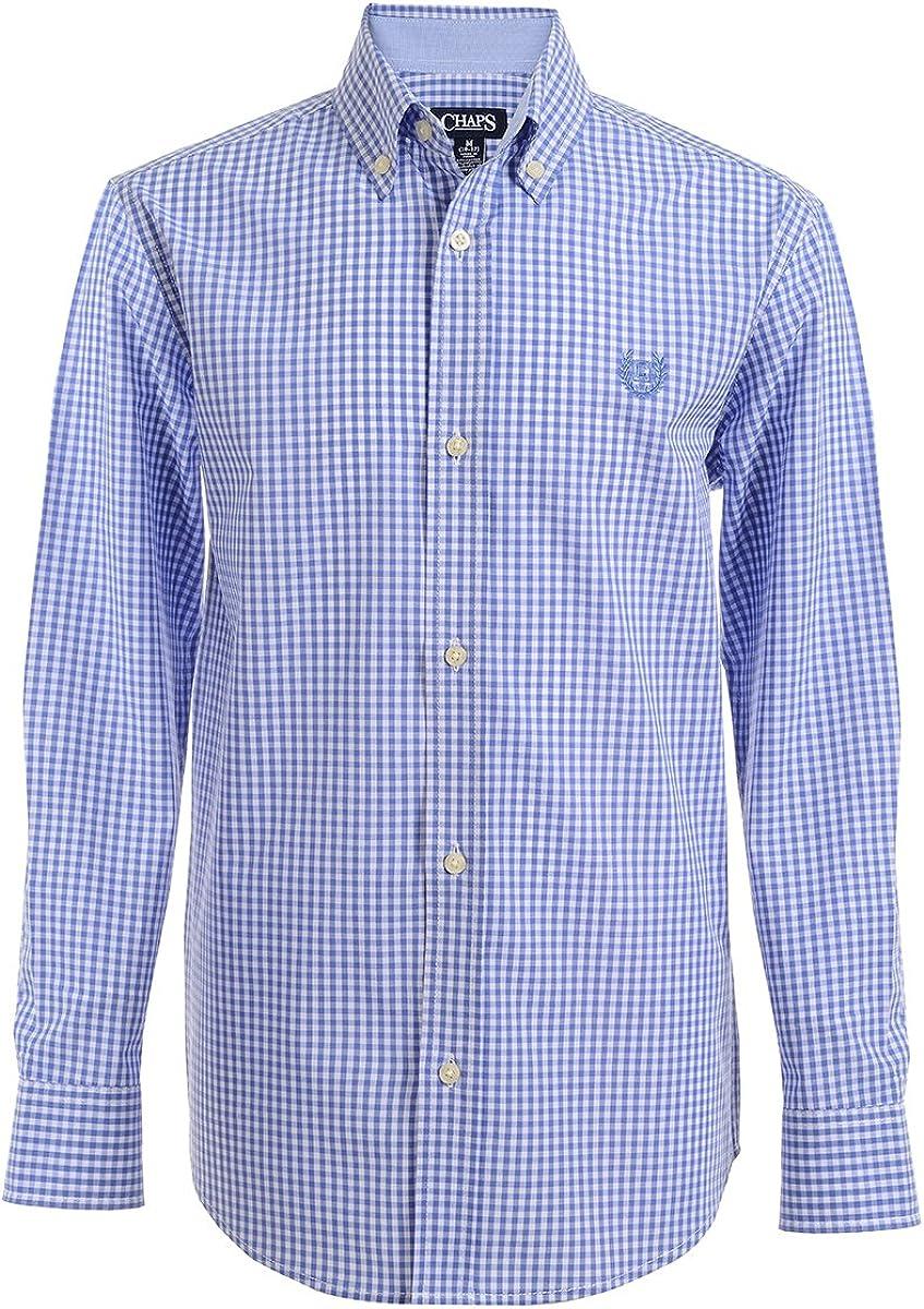 Chaps Boys' Long Sleeve Plaid Button-Down Woven Shirt