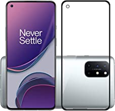 POPIO Tempered Glass Screen Protector Compatible for OnePlus 8T with Edge to Edge Coverage and Easy Installation Kit, Pack of 1