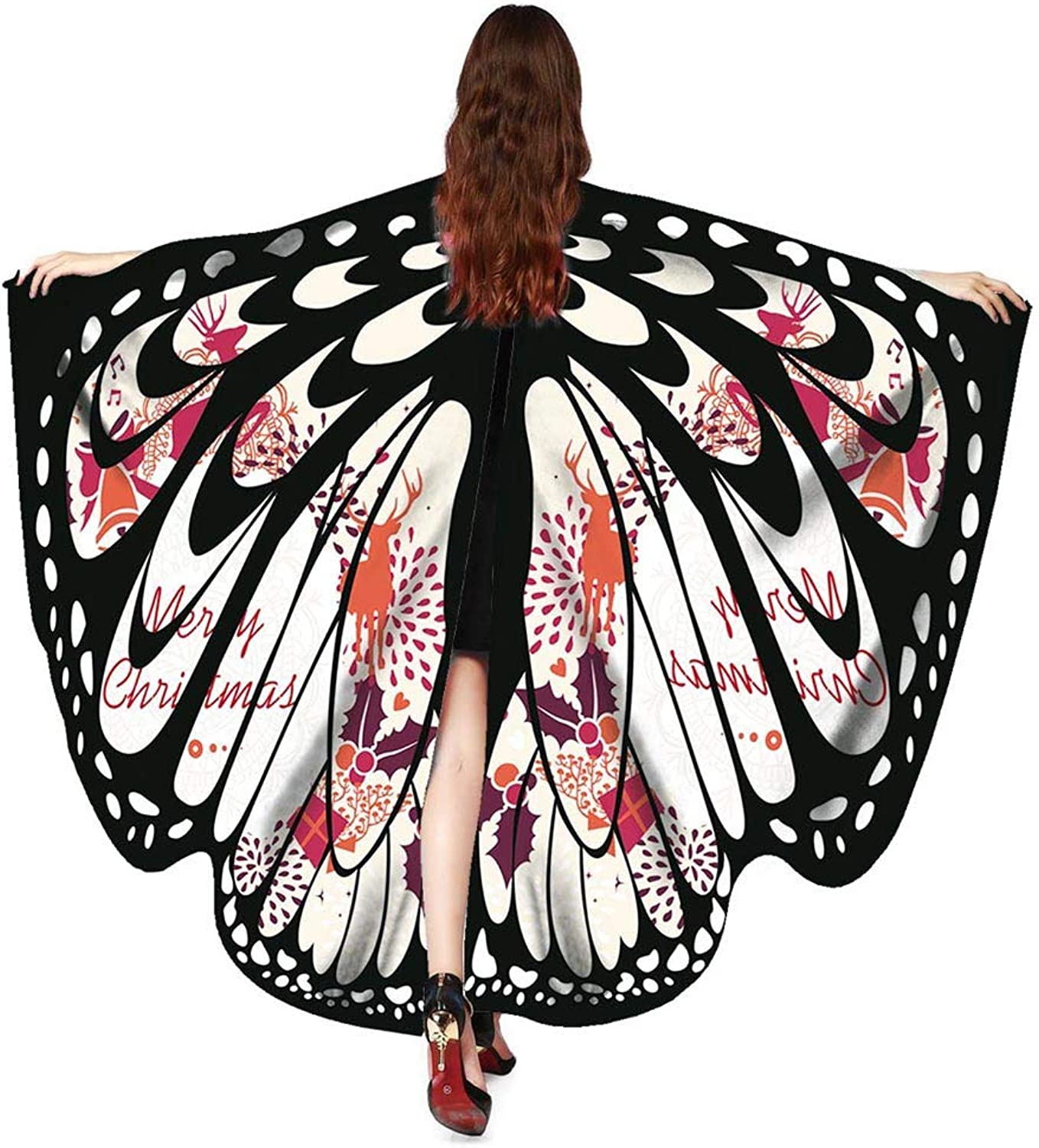 Christmas Cloak, iOPQO Christmas Butterfly Wings Shawl Scarf Poncho Accessories