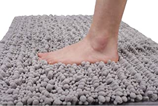Yimobra Luxury Chenille Bath Mat, Soft Shaggy and Comfortable, Large Size, Super Absorbent and Thick, Non-Slip, Machine Wa...
