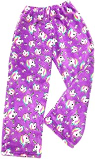Girl's and Women's Fuzzies Plush Super Soft Cozy Pajama Lounge Pants Sizes 5/6 to Junior Small