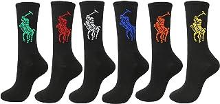 Men's 6-Pack Big Pony Crew Sock