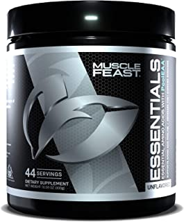MUSCLE FEAST Vegan Essential Amino Acid Powder, Keto Friendly, Sugar Free, Post Workout Recovery and Intra-Training Drink ...