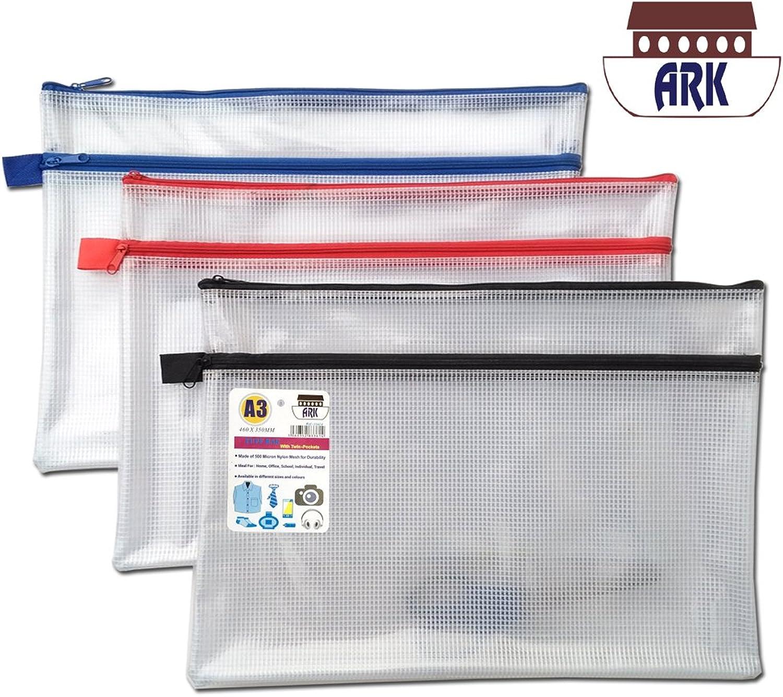 12 x A3  Twin Pocket Tuff Tasche Tasche Tasche Schule Wasserdicht Storage Starke Federmappe mit Zip Wallet (460 x 350 mm) B01MRXDF3U | Sale  9e5da7