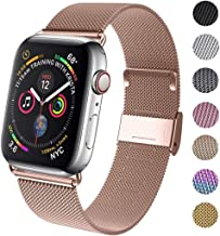 GBPOOT Compatible for Apple Watch Band 38mm 40mm 42mm 44mm, Wristband Loop Replacement Band for Iwatch Series 4,Series 3,Series 2,Series 1,PinkGold,38mm/40mm