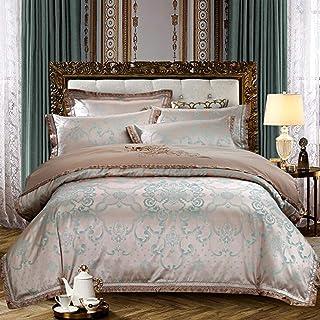 Literie Satin Jacquard Coton Couverture Couverture De Mariage Mariage Couette Couette Couette de lit de lit Tôle de lit Br...