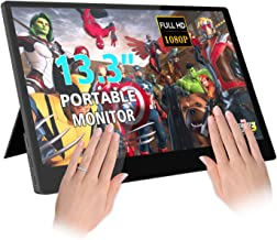 $229 Get 13.3'' inch Portable Monitor 10 Finger Capacitive Touch IPS 1080P External Display Screen Gaming Monitor with HDMI Built-in Dual Speakers Type-C PD for Raspberry Pi PS4 Xbox One Switch PC Laptop …