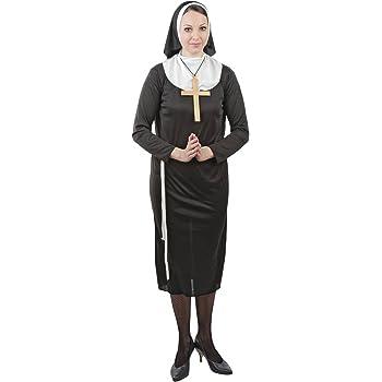 Foxxeo 10000 | Disfraz de monja para Mujer, tallas S - XXXXL ...