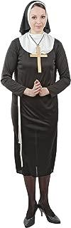 Foxxeo Traje de monjas para la Fiesta temática del Carnaval de Damas- tamaño: S