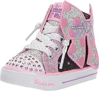 Skechers Kids' Shuffle Lite-Bow Bling Sneaker
