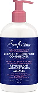 SheaMoisture Silicone Free Conditioner for Dry Hair, Sugarcane and Meadowfoam, Sulfate Free Conditioner, 13 Oz