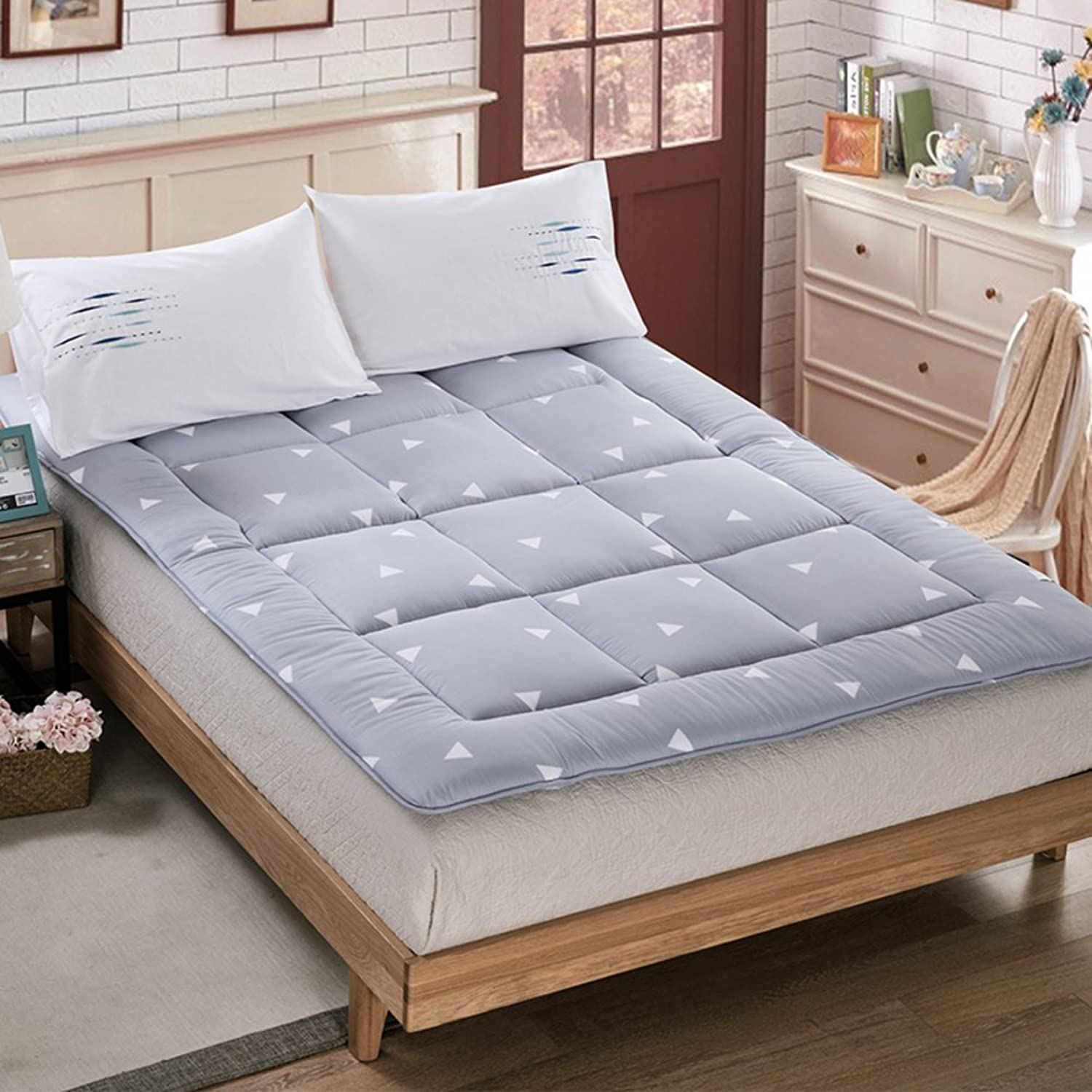 Thickening Non-Slip Floor Mattress,Foldable Tatami Mattress Comfort Portable Overfilled Mattress pad Cover Nap mat Dormitory Mattress Bed pad Anti-Skid-B 180x200cm(71x79inch)