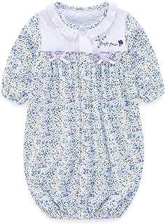 Boo.Kabee さわやか小花柄 新生児 ツーウェイオール 兼用ドレス 50~70cm BKB017
