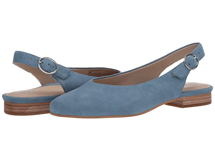 Earth  Uptown Ursula (Sky Blue Silky Suede) Womens Flat Shoes