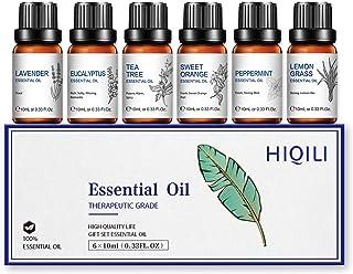 Huiles essentielles, lavande, arbre à thé, orange douce, citronnelle, eucalyptus, menthe poivrée, huile essentielle nature...