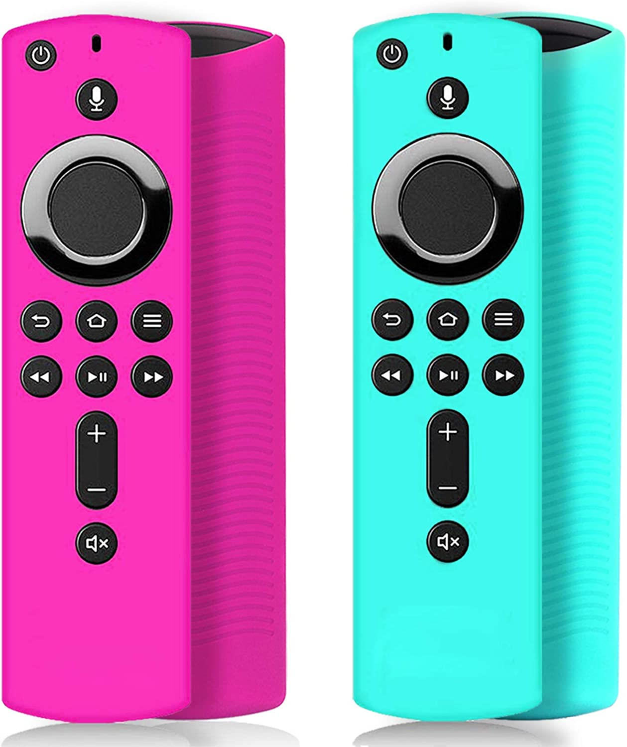 [2 Pack ] Stick Remote Cover Case, Silicone Remote Cover Case Compatible with 4K Stick, Lightweight Anti Slip Shockproof Remote Cover