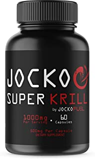 Jocko Super Krill Oil - 1000mg Pure Antarctic Krill - Astaxanthin, Omega-3, DHA, EPA - Joint, Brain, Memory Support Supple...
