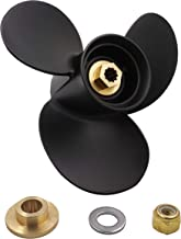 Aluminum 3 Blades Prop Propeller(with All Kits) for Mercury Outboard 9.9-25HP, 10 Spline Tooth