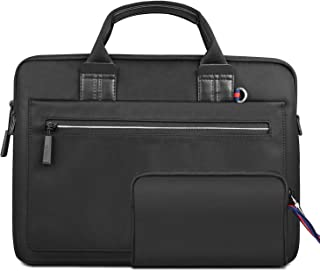 WIWU Laptop Bag 15.6 Inch Briefcase Laptop Satchel Tablet Bussiness Carrying Handbag Laptop Sleeve with Hand Wallet Black