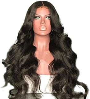 Body Wave 5x4.5 Silk Base Full Lace Human Hair Wigs With Baby Hair Brazilian Non Remy Pre Plucked Hairline 130% Density,Natural Color,22inches,130%