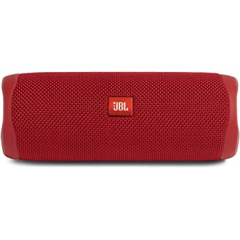 JBL Flip 5 - Portable Bluetooth Speaker, powerful sound and deep bass, IPX7 waterproof, 12 hours of playtime, JBL PartyBoost for multiple speaker pairing, speaker for home, outdoor and travel (Red)