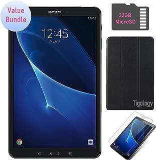 Samsung Galaxy Tab A 10.1-inch Touchscreen (1920x1200) Wi-Fi Tablet Bundle, Octa-Core 1.6GHz Processor, 2GB RAM, 16GB Memory, 32GB MicroSD Card, Tigology Case, Screen Protector, Android OS