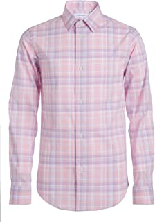 Calvin Klein Boys' Long Sleeve Patterned Button-down Dress Shirt