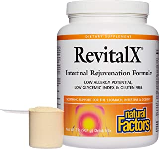 Natural Factors, RevitalX Intestinal Rejuvenation Formula, Soothing Digestive Aid Drink Mix for a Healthy Stomach and Colo...