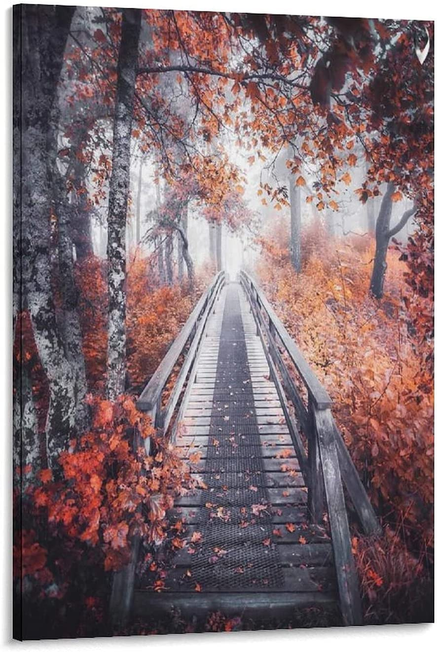 HD Print Limited time sale Modern Abstract Superlatite Oil Painting Scenery Craft Gift Autumn